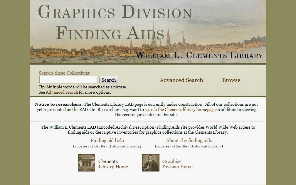 New Graphics Division Resources Available - UM Clements Library