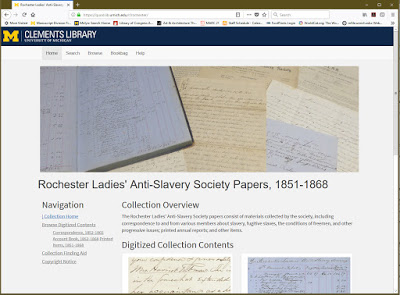 Underground Railroad Documentation and Other Valuable Resources: More Digitized Manuscripts Collections from the William L. Clements Library