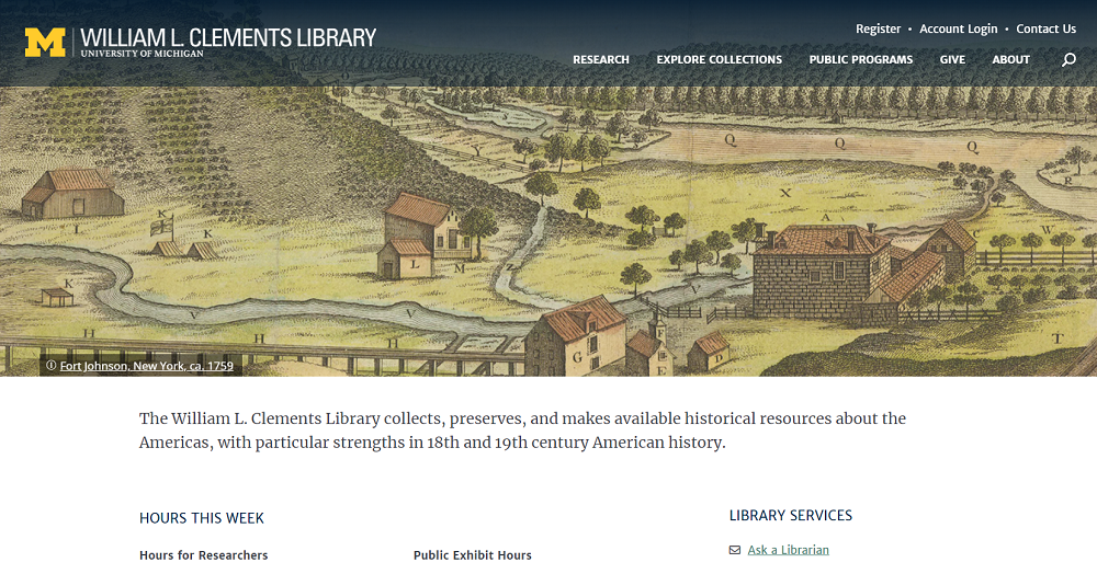 Announcing the Redesigned Clements Library Website